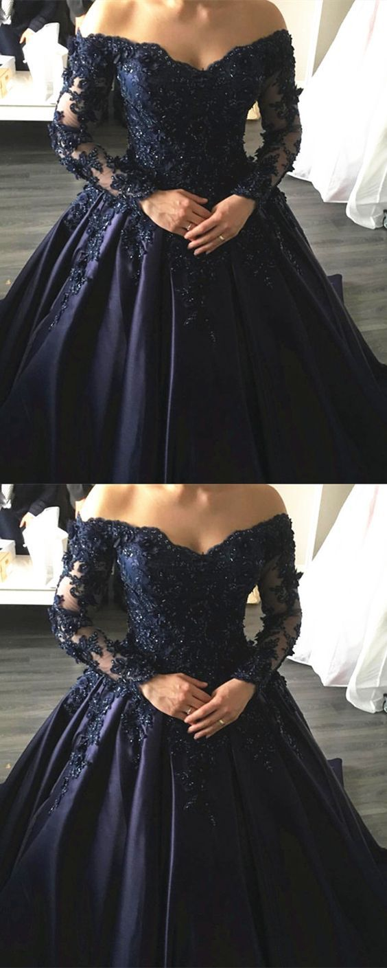 Lace wedding dress tulle november 2018 Navy Blue Lace Appliqueu   when I am grown up after high