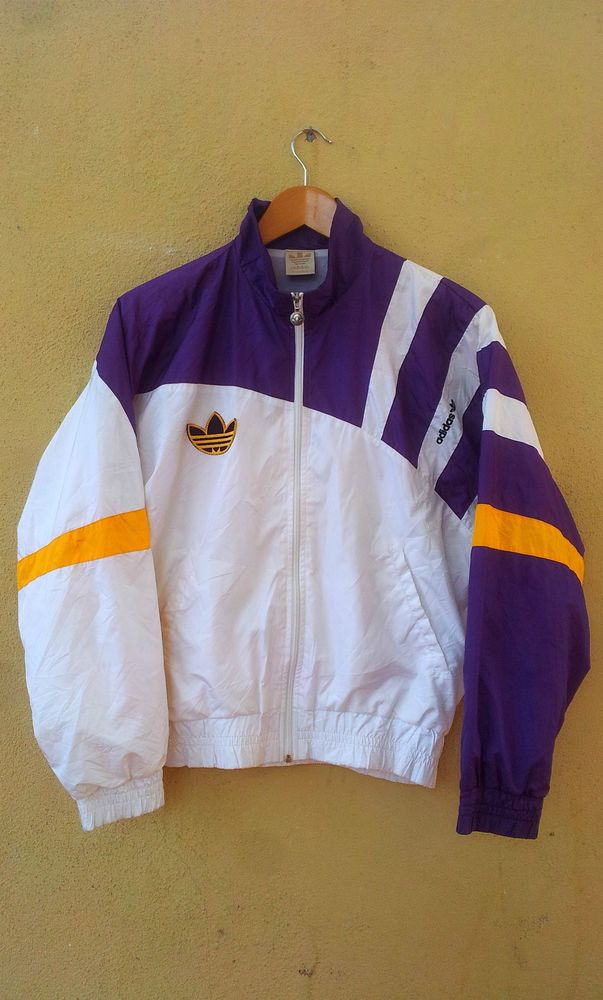 90 s Vintage Adidas Sweater Nylon Jacket Hip Hop Swag Stefan Edberg Tennis ae134cd0ce