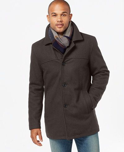 Detachable Wool Scarf, Tommy Hilfiger Peacoat With Scarf