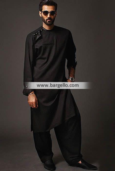 bf616341c9 Kurta Collection Fanciful Kurta Pakistan Black Kurta Menswear | pathanis | Mens  kurta designs, Indian men fashion, Wedding dresses men indian
