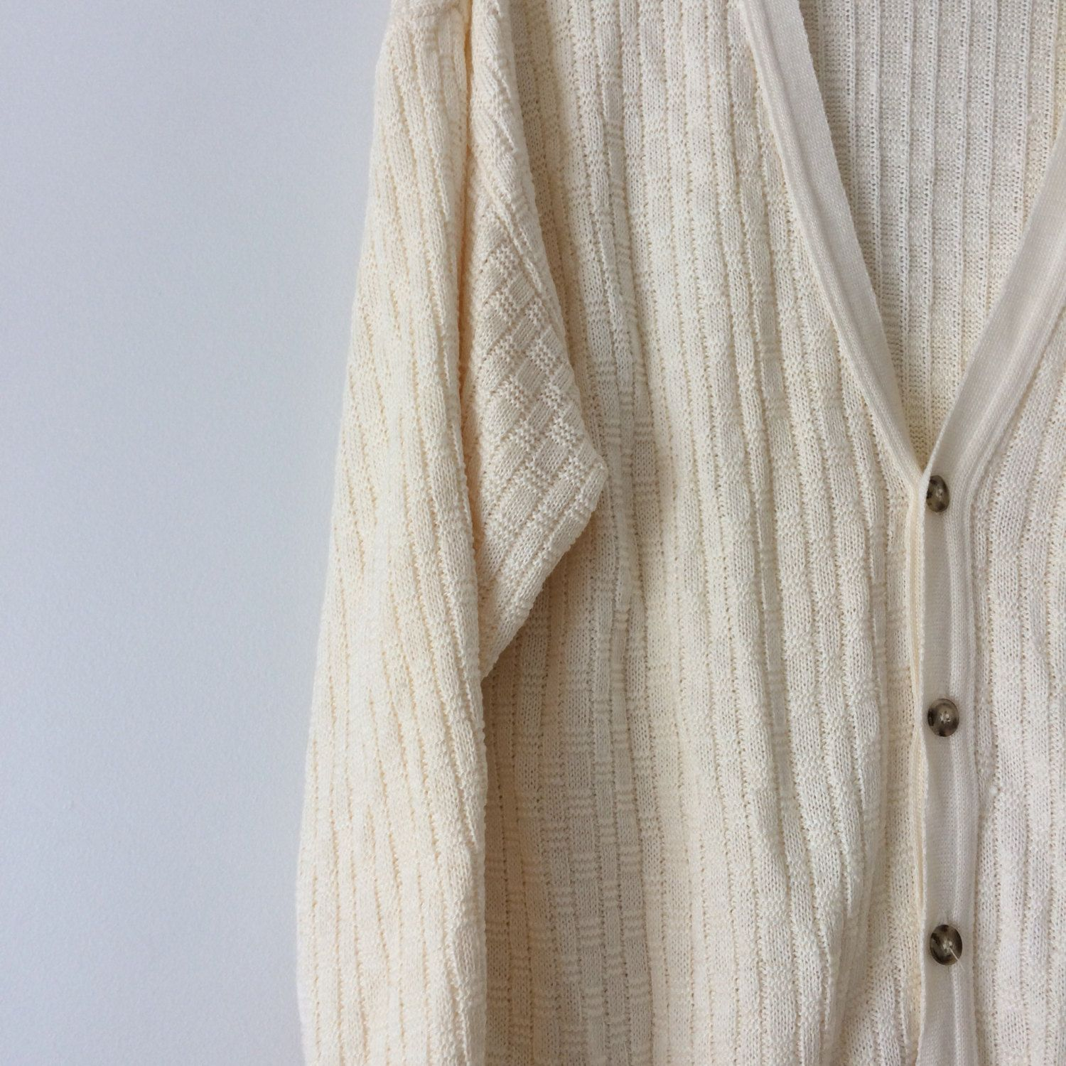 vintage knit sweater, oversized button up sweater, made in canada ...