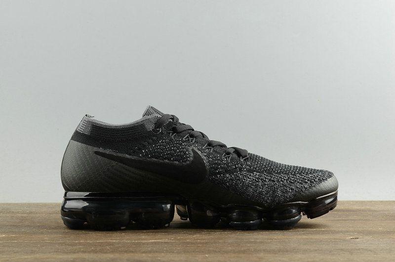 huge discount f04aa 7476b 2018 Authentic Mens Nike VaporMax Triple Black Noir 2018 Spring Summer  Running Shoes Black Noir Anthracite-Dark Grey 849558-00704