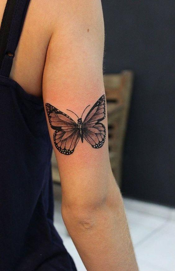 Tattoo; Butterfly tattoo; Small tattoo; Back tattoo; Arm Tattoo, Meaningful Tattoo …