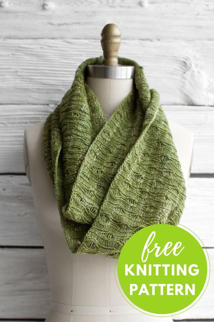 Bonito Crochet Patrón De La Bufanda De La Eternidad Libre Ornamento ...