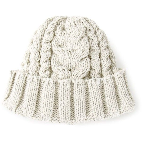 Ca4la cable knit beanie hat (3 410 UAH) ❤ liked on Polyvore ...