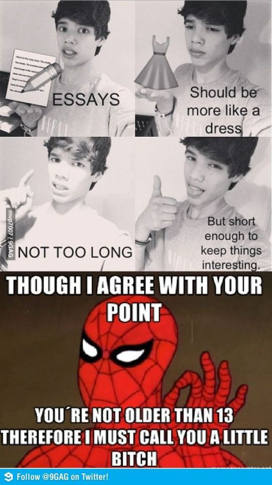 Spiderman always has a good point