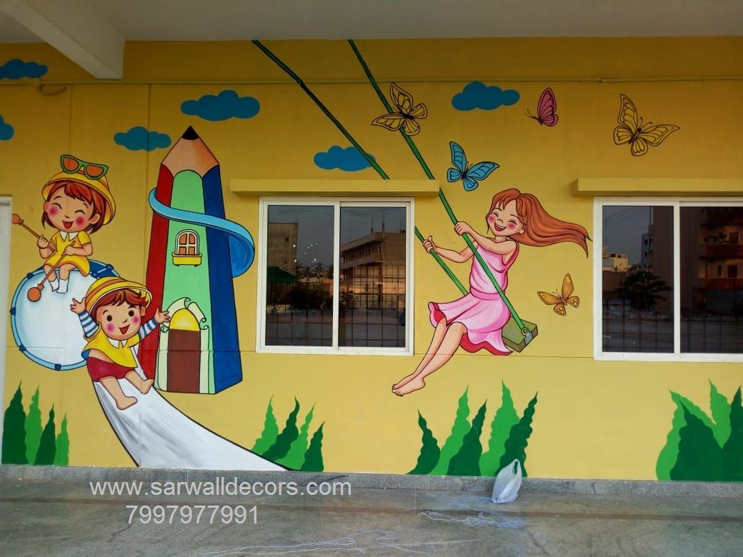 Wall Painting Designs For Play School Hyderabad Wall Painting For