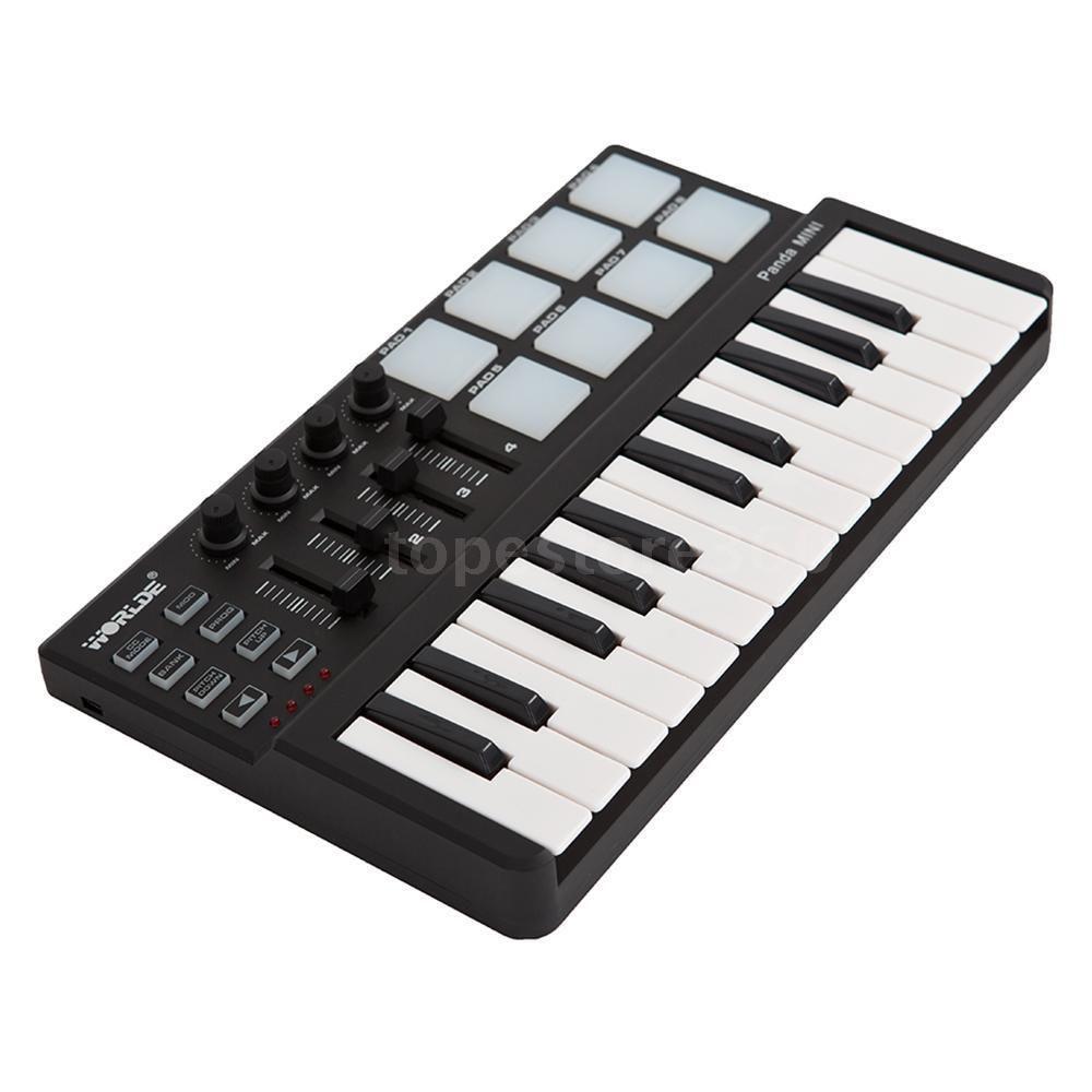 Worlde Panda MIDI Controller 25Key USB Drum Pad Keyboard