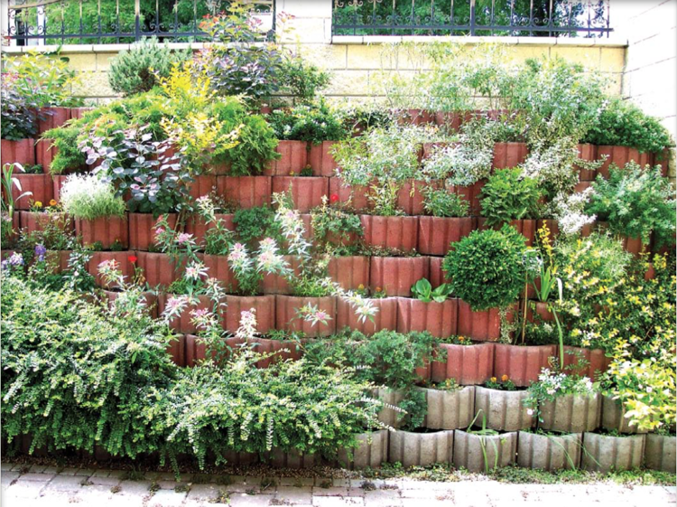 Pflanzringe Setzen   Im Garten, Auf Der Terrasse Oder Als Stützmauer  Einsetzen