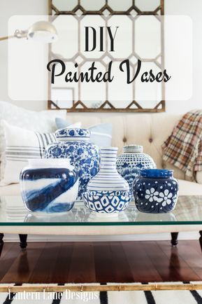 How To Paint Clear Vases To Create Budget Friendly Home Decor Young Room