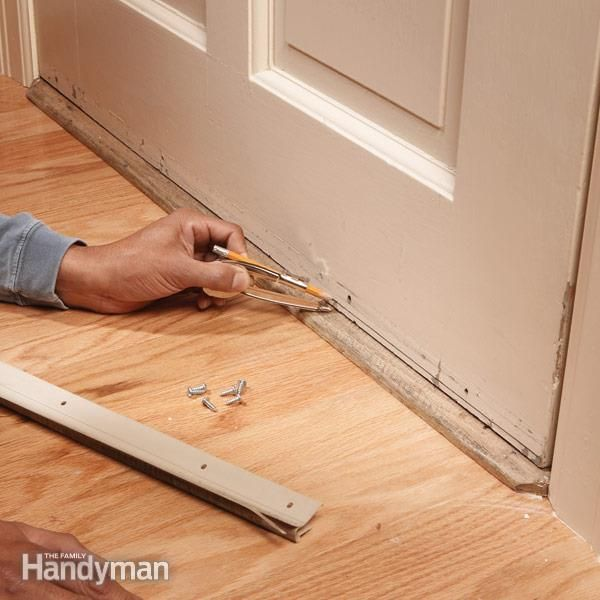 Install a door bottom weather strip to wooden doors for an effective and almost invisible airtight & Replace Your Weather Strip | Doors Front doors and House Pezcame.Com