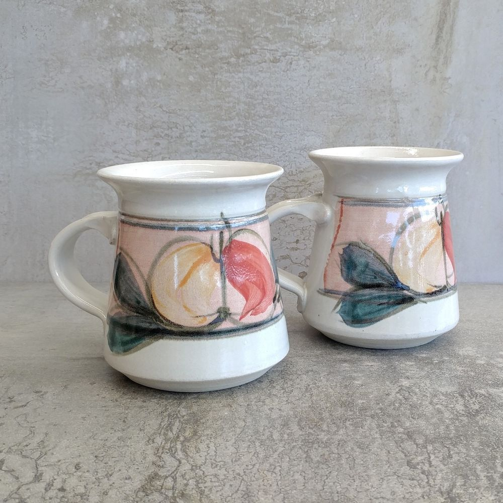 Details about 2 Retro Australian Pottery Coffee Mugs