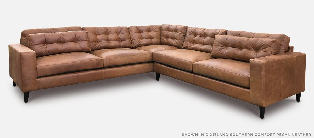 The Redding Custom Midcentury Sofas Sectionals More Of Iron Oak Mid Century Sectional Sofa Mid Century Sectional Mid Century Modern Sofa