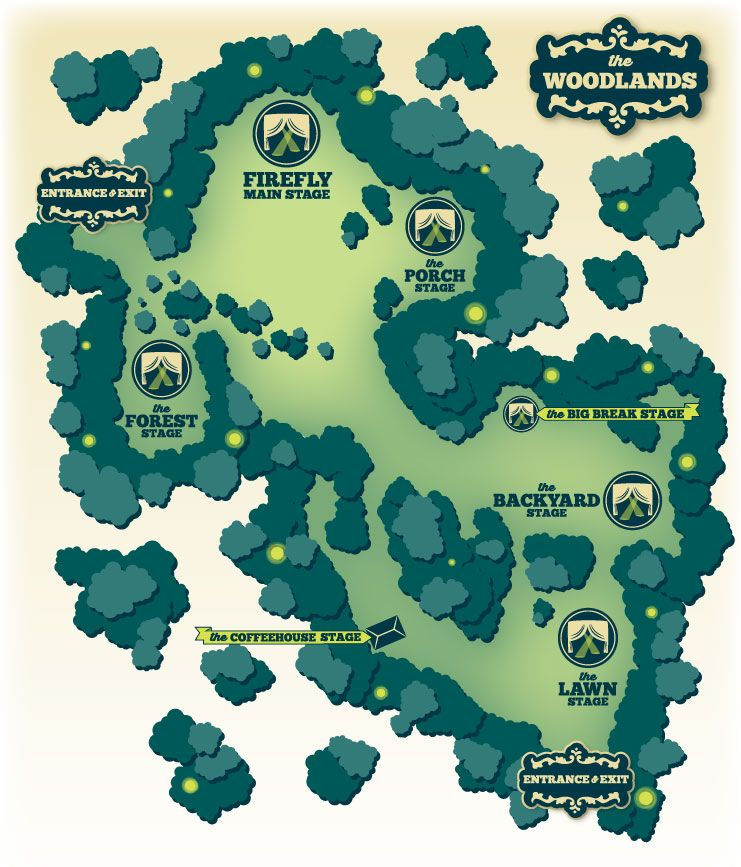 FireFly Music FestivalWhats Have In Store MORE Set - Fireflies map of us