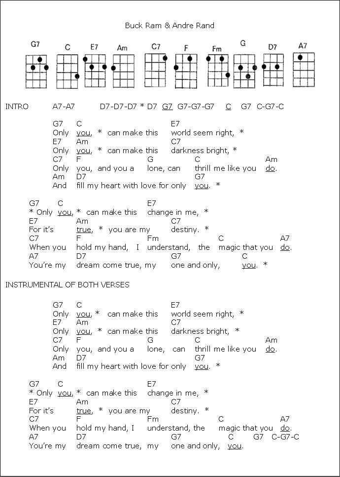 Only You   ukulele tubs   Pinterest   Ukulele songs, Guitars and Songs
