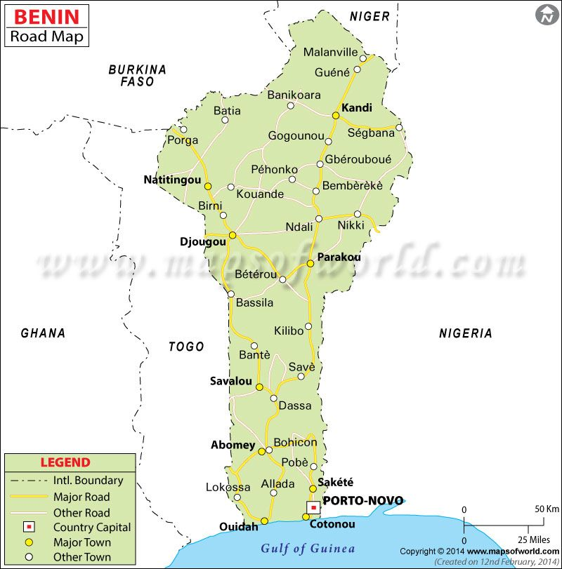 Benin Road Map Benin Pinterest City