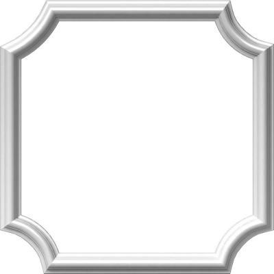 Ekena Millwork 1/2 in. x 20 in. x 20 in. Polyurethane Ashford Molded Scalloped Panel Moulding Picture Frame