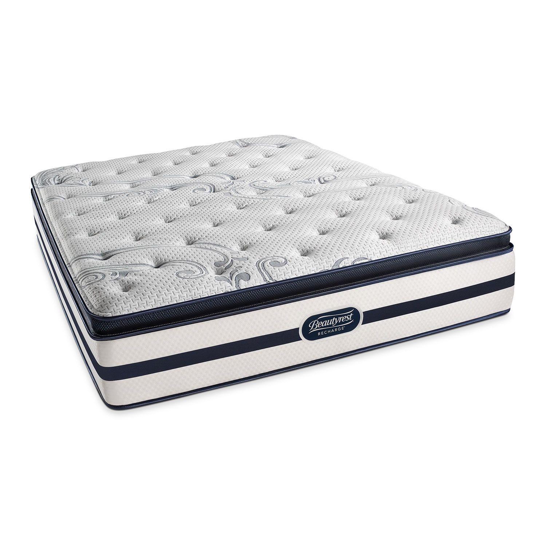 Alisa Plush Pt King Mattress Split Foundation Set American Signature Furniture Beautyrest Recharge Pillow Top Mattress Plush Pillows