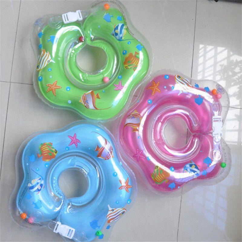 Nieuwe Baby Baby Lap Zwemmen Baby Hals Float PVC Ring Opblaasbare Zwemmen Cirkel Hals Swimtrainer 2016