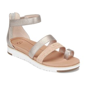 f73ffe15c80 UGG Australia Women's Zina Gladiator Sandals - Gray Gold | Shoes ...