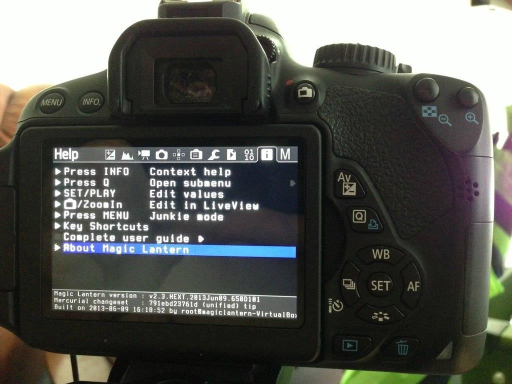 Canon 650d X2f T4i User Guide Magic Lantern Electronic Products