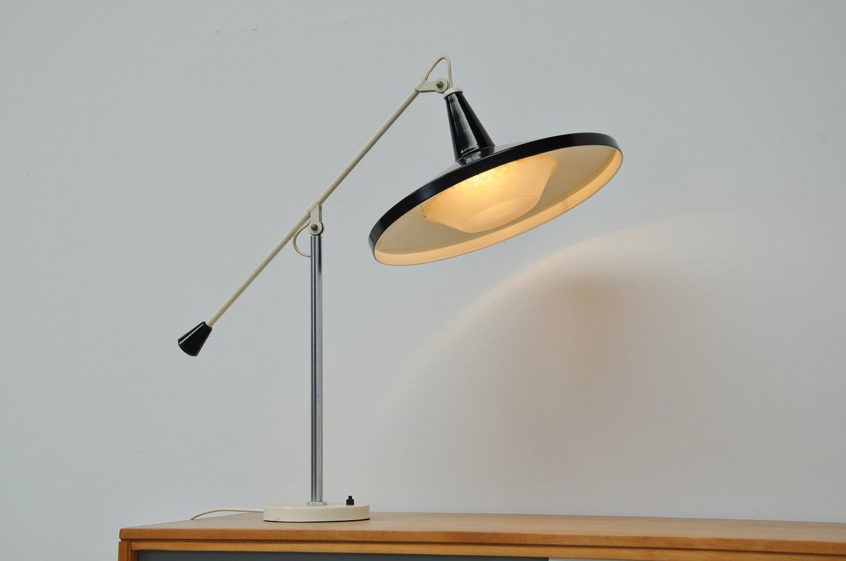 Wim rietveld gispen panama black table lamp lighting