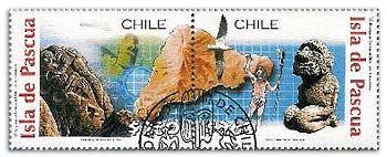 Briefmarke mit dem Moai Tukuturi