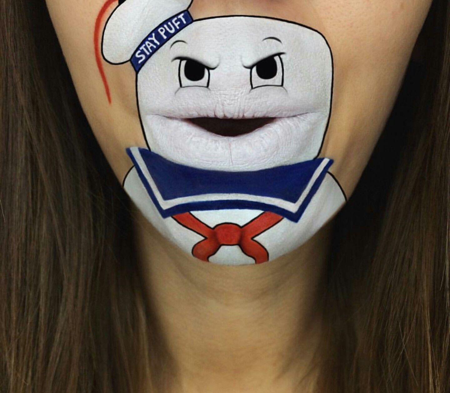 Marshmallows Man Ghostbuster Creative Mouth Painting Art By - Laura jenkinson mouth painting