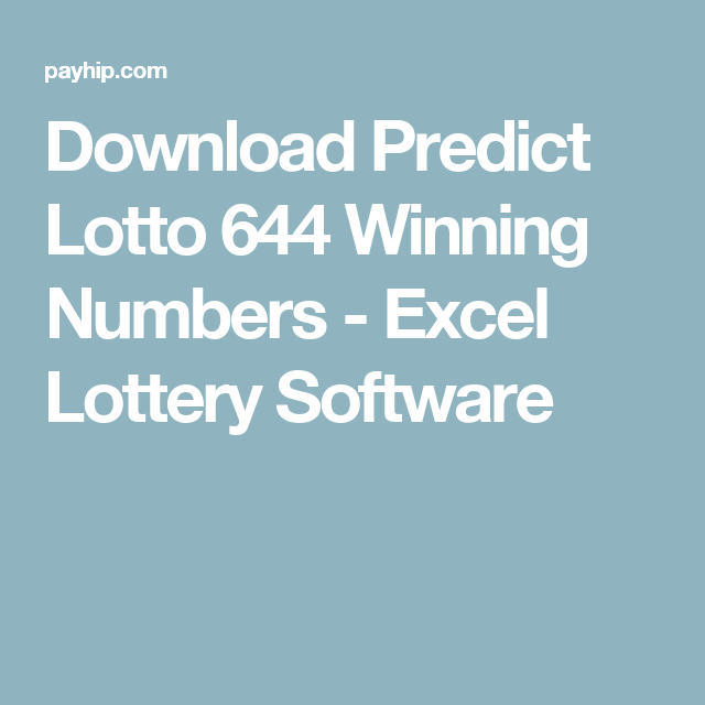 Download Predict Lotto 644 Winning Numbers - Excel Lottery Software