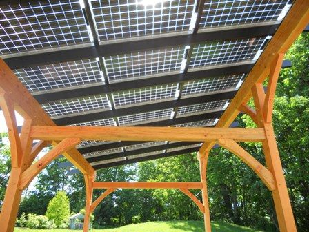 Solar Panel Timber Frame Patio Cover