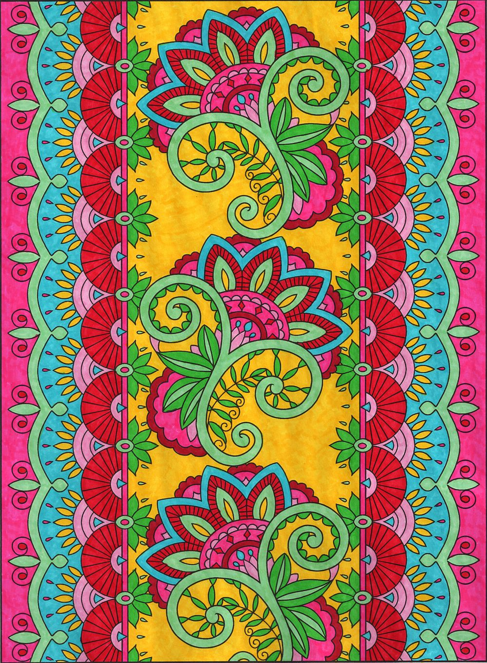 From The Mehndi Designs Coloring Book By Dover Colored Michele Creative Haven Magical