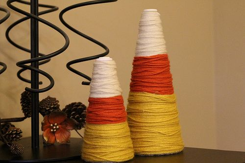 Cute candy corn DIY decor