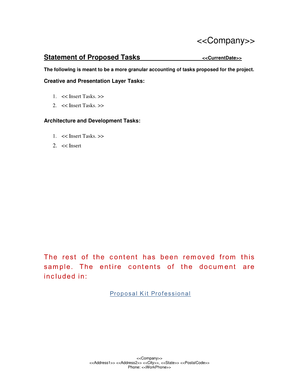 How To Write Your Own Statement Of Proposed Tasks