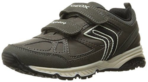 Geox J Shuttle B, Zapatillas para Niños, Gris (Grey/limec0666), 35 EU