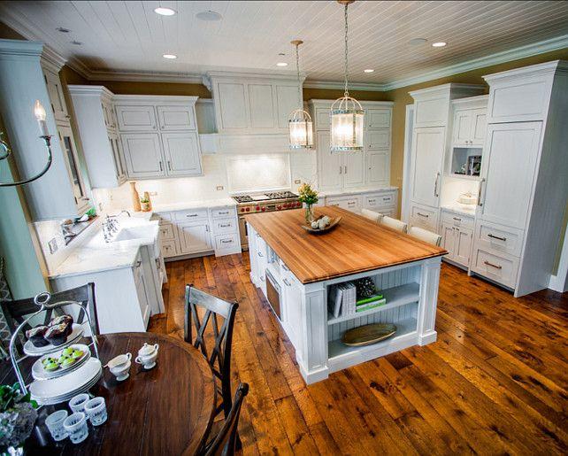 Kitchen Design Ideas Spacious white kitchen design ideas Hardwood