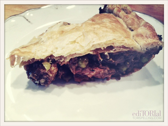 Steak, Guinness & Cheese Pie with a Puff Pastry Lid... If ...