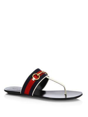 3a6943d601cb Gucci - Querelle Web Thong Sandals Gucci Flats
