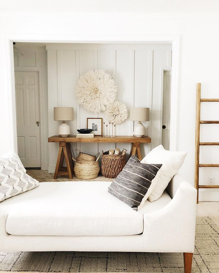 Rustic modern home decor for the living