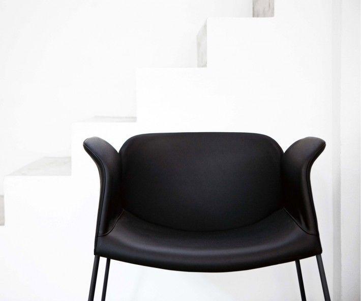 Novamobili Design Lounge Sessel Sissi Schwarz Weiß