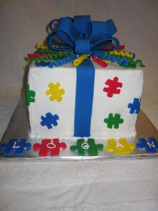 Autism Cake Wish I Could Eat It Autism Amp Special Needs