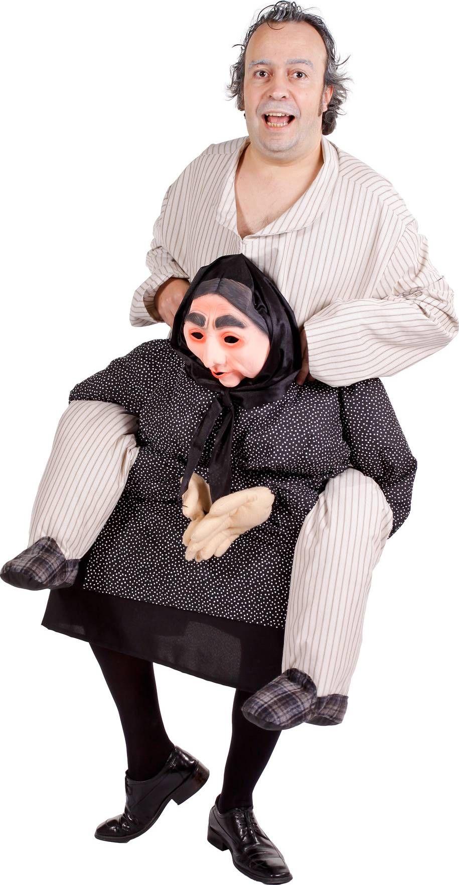 0a9831c7ecfb5 Déguisement humoristique homme à dos de grand mère | Halloween ...