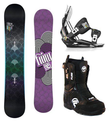 Flow Venus Women's Complete Snowboard Package With Flow