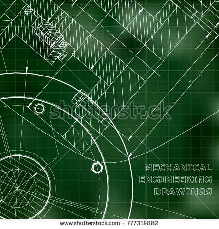 Backgrounds of engineering subjects technical illustration backgrounds of engineering subjects technical illustration mechanical green background grid bubushonok malvernweather Images