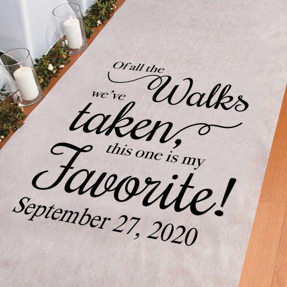 Personalized My Favorite Walk Aisle Runner #personalizedwedding