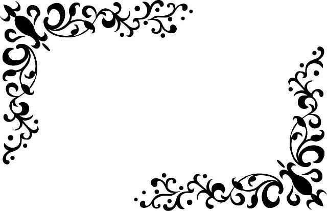 無料ベクトル素材 飾り罫 飾り枠 コーナー フレーム クリップ