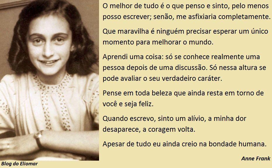 Frases Do Diário De Anne Frank Pensamentos Pinterest Anne