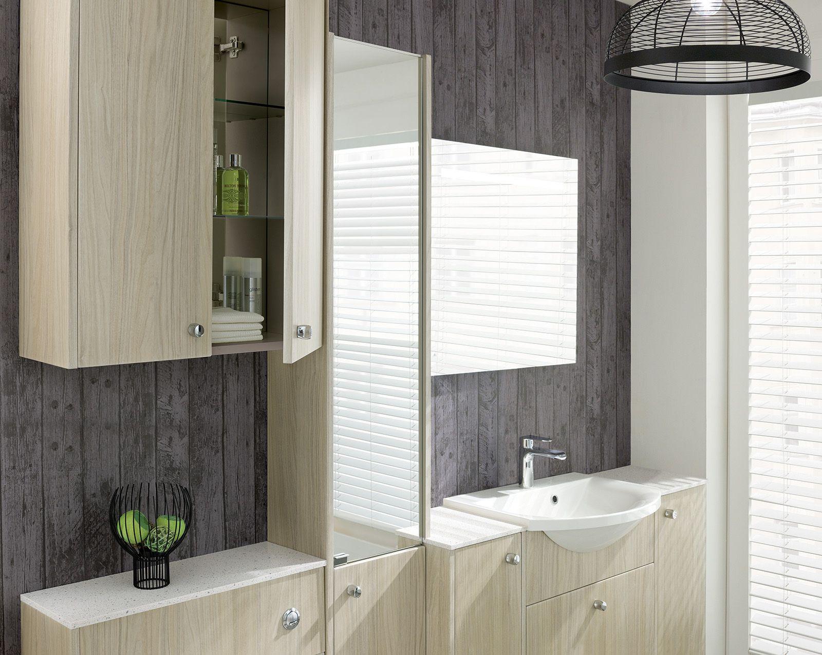 Brecon Washed Walnut Calypso Bathroom Furniture Bathroom