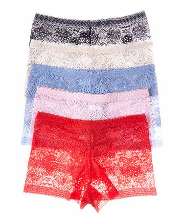 Another great find on #zulily! Nude & Pink Lace Boyshorts Set - Women & Plus #zulilyfinds