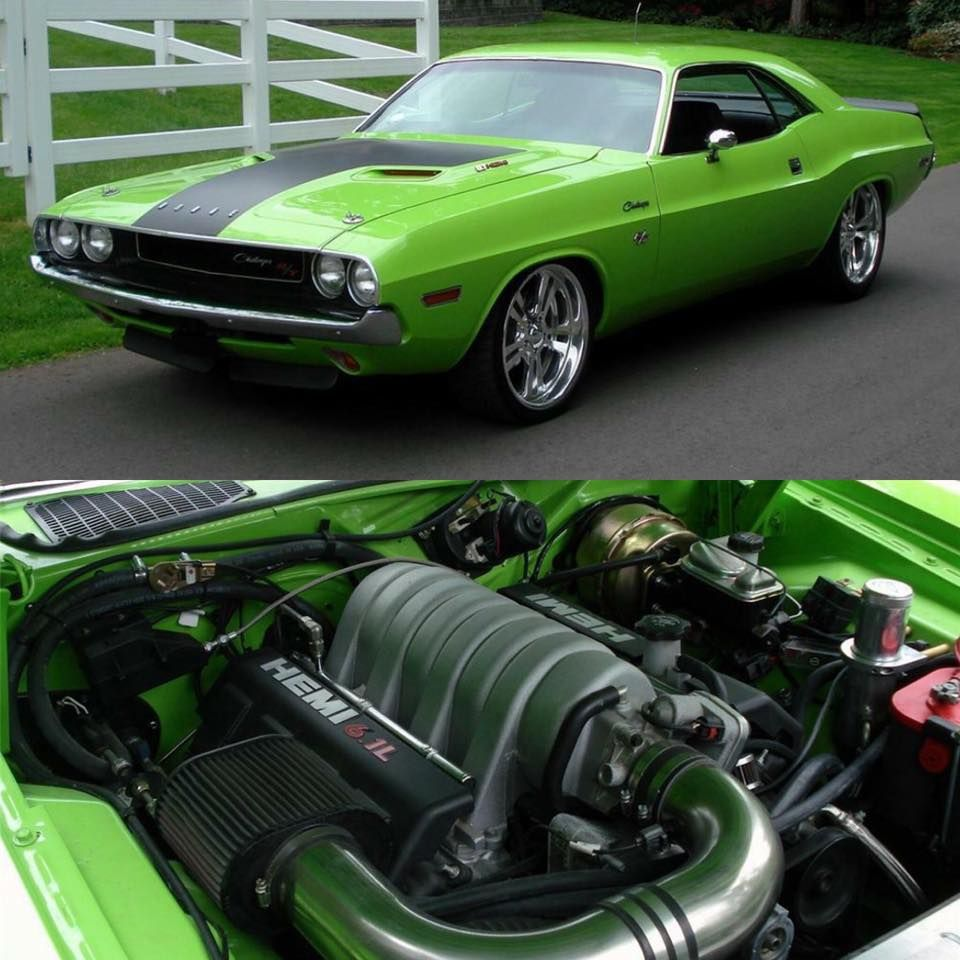 1970 Challenger With A 6.1 Hemi SRT8 Engine