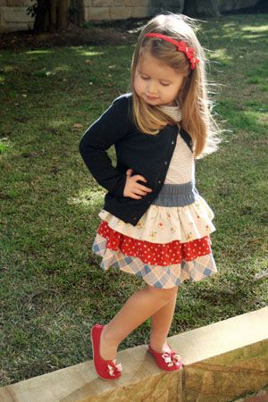 fairytale frocks and lollipops :: wink designs, ruffle-icous skirt, ruffleicious skirt, twirl skirt, twirly, ruffles, tiered, triple ruffle, girl, toddler, school, play, party, birthday, spring, summer, fall, dropped waist, raw edge, hemmed edge, gathered